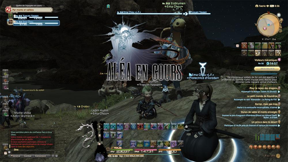 FFXV et Noctis se retrouvent plongés dans FFXIV